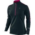 Nike Longsleeve Element Half-Zip schwarz/rose 015 Damen (Größe L)