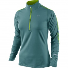 Nike Longsleeve Element Half-Zip petrol Damen