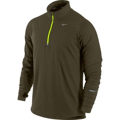 Nike Longsleeve Element Half-Zip braun Herren