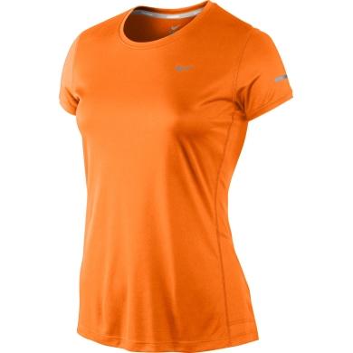 Nike Shirt Miler Crew orange Damen