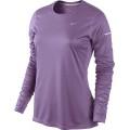 Nike Longsleeve Miler flieder Damen