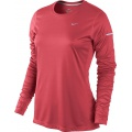 Nike Longsleeve Miler geranium Damen