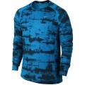 Nike Longsleeve Graphic Miler blau Herren (Größe XL)
