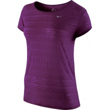 Nike Shirt Dri FIT Touch Breeze Crew grape Damen (Größe M)
