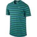 Nike Tshirt DF Touch Tailwind Striped grün/blau Herren (Größe XXL)