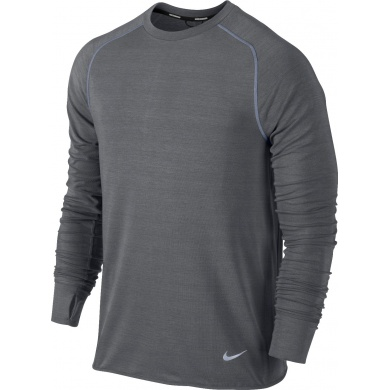 Nike Longsleeve Feather Fleece grau Herren