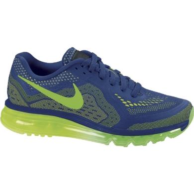 Nike Air Max 2014 blau/lime Laufschuhe Herren