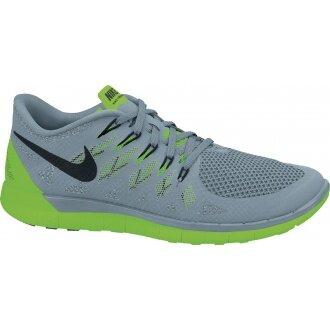 Nike Free 5.0 2014 grau/lime Laufschuhe Herren (Größe 43)