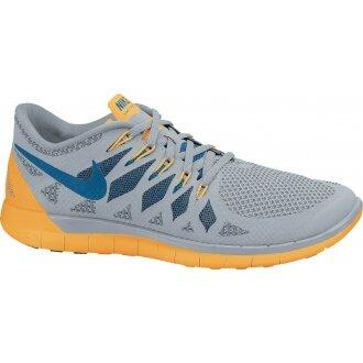 Nike Free 5.0 2014 grau/gelb Laufschuhe Herren (Größe 43)