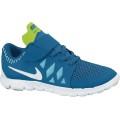 Nike Free 5 Klett 2014 blau/weiß 400 Laufschuhe Kinder (Größe 31,5+32)