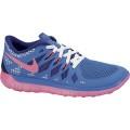 Nike Free 5.0 2014 blau/pink Laufschuhe Kinder