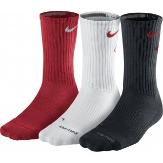 Nike Tennissocken Fly Crew sortiert r/w/g 3er Herren (Größe 38-42)