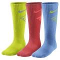 Nike Tennissocken Graphic Crew Kinder sortiert v/c/b 3er
