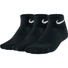 Nike Tennissocken Cushion QTR Kinder schwarz 3er