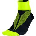 Nike Laufsocke Elite Hyper Lite Quarter schwarz/gelb Herren