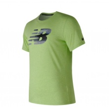 New Balance Tshirt Heather Tech Graphic 2017 lime Herren