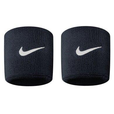 Nike Schweissband Swoosh (72% Baumwolle) schwarz - 2 Stück