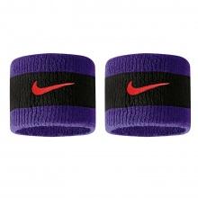 Nike Schweissband Swoosh (72% Baumwolle) violett/schwarz - 2 Stück