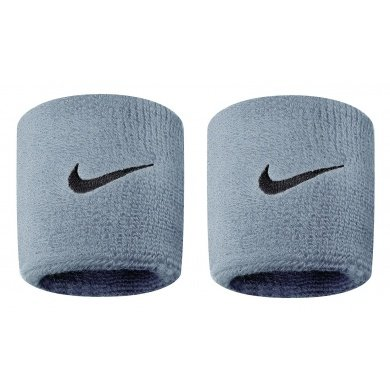Nike Schweissband Swoosh (72% Baumwolle) grau - 2 Stück