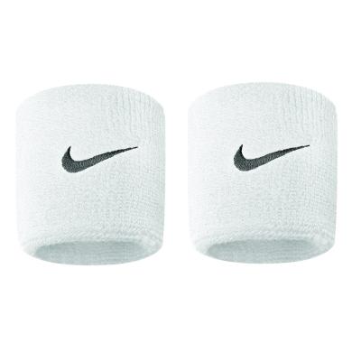 Nike Schweissband Swoosh (72% Baumwolle) weiss - 2 Stück