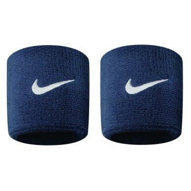 Nike Schweissband Swoosh (72% Baumwolle) obsidian - 2 Stück