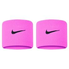 Nike Schweissband Swoosh (72% Baumwolle) pink/grau - 2 Stück