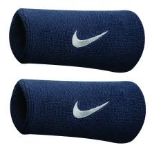 Nike Schweissband Swoosh Jumbo (74% Baumwolle) obsidian - 2 Stück