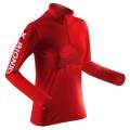 X-Bionic Cross Humdinger Zip-Shirt Longsleeve rot Damen