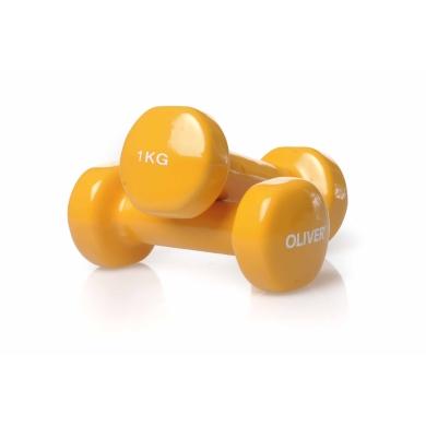 Oliver Fitness Hanteln Vinyl Set 2x 1,0kg orange