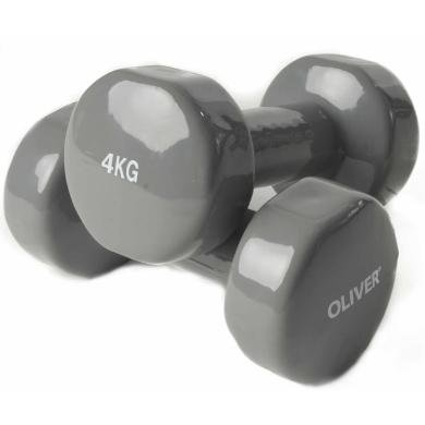 Oliver Fitness Hanteln Vinyl 4,0kg Set