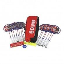 Oliver Schulsport-Set III - 15x Badmintonschläger Speedlight 500, 1x Racketbag, 6x Bälle