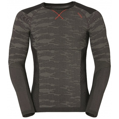 Odlo Longsleeve Blackcomb Evolution Warm grau/orange Herren (Größe XL)