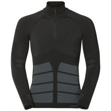 Odlo Longsleeve Evolution Warm Turtle Neck 1/2 Zip schwarz Herren