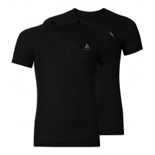Odlo Tshirt Original Light Crew Neck schwarz Herren 2er Pack