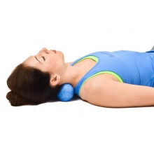 Oliver Fitness Fasziendoppelball 12cm hart blau 1er