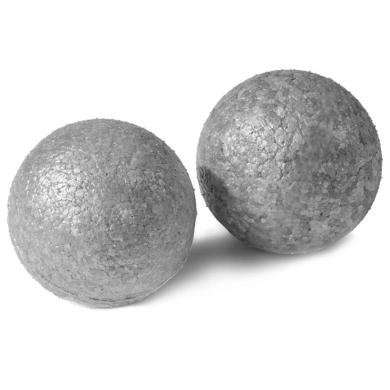 Oliver Fitness Faszienball einzeln mittel grau 2er