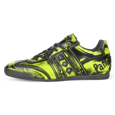 Pantofola d´Oro Ascoli Brush Dandy Low schwarz/gelb Sneaker Herren
