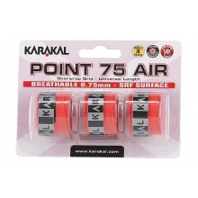 Karakal Point Air 0.75mm Overgrip 3er rot