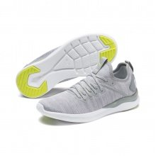Puma Ignite Flash evoKNIT hellgrau Laufschuhe Damen