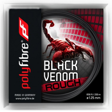Polyfibre Black Venom Rough 1.25 schwarz Tennissaite