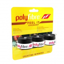 Polyfibre Feel It Overgrip 3er schwarz