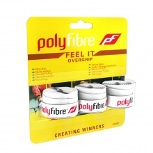 Polyfibre Feel It Overgrip 3er weiss