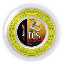 Polyfibre Tennissaite TCS Rough (Haltbarkeit+Spin) gelb 200m Rolle