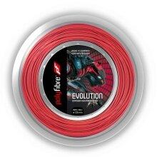 Polyfibre Tennissaite Evolution (Haltbarkeit) rot 200m Rolle