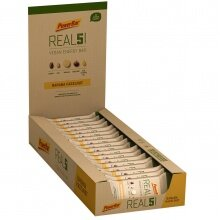 PowerBar REAL5 Vegan Energy Banane/Haselnuss Riegel 18x65g Box