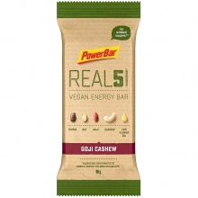 PowerBar REAL5 Vegan Energy Goji Cashew Riegel 18x65g Box