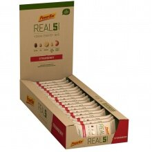 PowerBar REAL5 Vegan Energy Erdbeere Riegel 18x65g Box