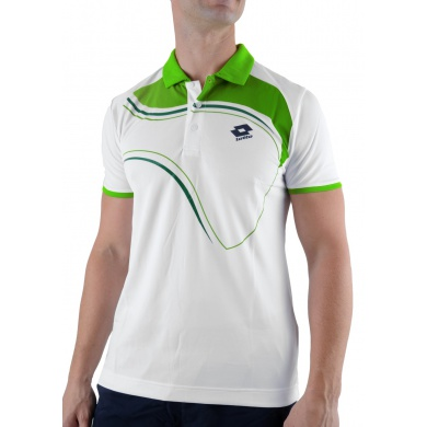 Lotto Polo LED weiss/clover Herren
