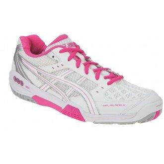Asics Gel Blade 4 weiss/pink Indoorschuhe Damen (Größe 40+42,5)