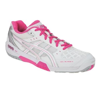Asics Gel Blade 4 weiss/pink Indoorschuhe Damen